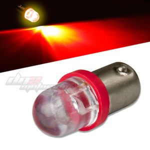10mm Round LED T10 BA9S T4W Bright Red Interior Dome 12V Light Bulb Lamp Bulbs
