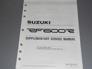 Suzuki Factory Service Manual Supplement 1996 RF600 RT RF600RT