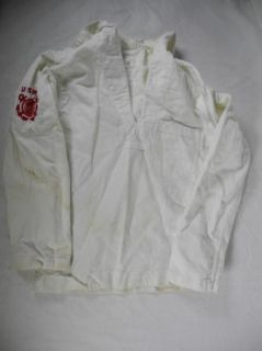 WWII US Merchant Marine Seaman Military Uniform White Shirt Jumper w Insignia