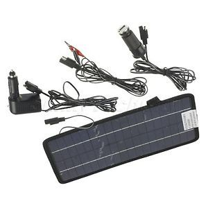 18V 8W Solar Powered Panel Auto Car Laptop Battery Trickle Charger