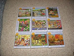 Lot of 9 Bits and Pieces Large Format Puzzles