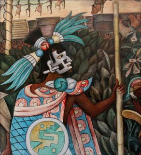 1920's Diego Rivera Mayan Indian Art Mural Print