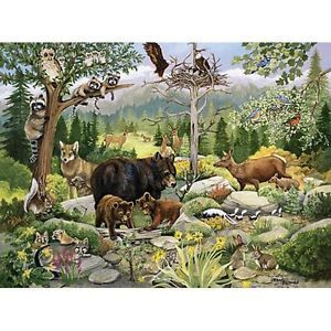 Bits and Pieces Forest Families Large Format Jigsaw Puzzle