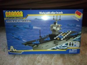 Best Lock Construction Toys Aircraft Carrier 500 Pieces