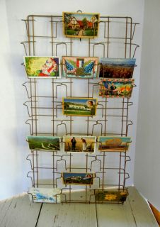 Vintage Hanging Wire Postcard Display Rack Atlas Wire Products Co