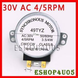 New Microwave Turntable Synchronous Motor 30V AC 4 5rpm 3 5 4W CW CCW