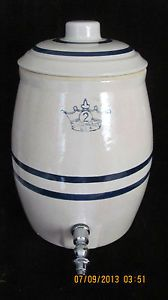 Vintage 5 Gallon Arrowhead Water Cooler Bottle with Arrowheads
