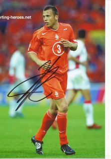 John Heitinga Holland Nationalteam Foto Mit Unterschrift 144836 Mik