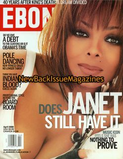 Ebony 4 08 Janet Jackson Martin Luther King April 2008 New