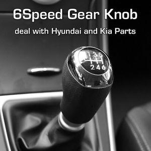 Hyundai Elantra Leather Gear Shift Knob Manual 6 Speed Genuine 2011 2012 2013