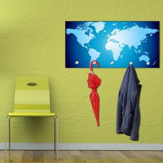Designer Garderoben Weltkarte Flur Hakenleiste Motiv Foto Neu Besonders Map
