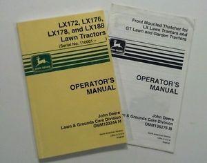 John Deere Lawn Tractor Operator Manual Owner Service LX172 LX176 LX178 LX188