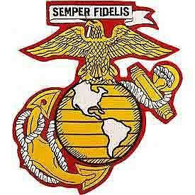 US Marine Corps Eagle Globe Anchor Semper Fidelis Embroidered Back Patch
