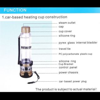 Electric Car Based Heating Cup Kettle Travel Business Trip Coffee Tea Heated Mug