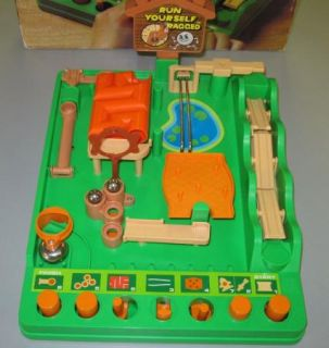 Run Yourself Ragged Game by Tomy 1979 Vintage Marble Maze Obstacle Course Game