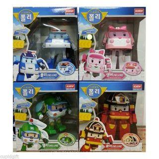 Robocar Poli Deluxe Robot Poli Transforming Action Figure Kit Car Korea Anime