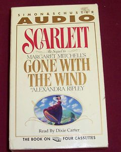 Audio Books Scarlet Alexandra Ripley 4 Audio Cassettes Read by Dixie Carter