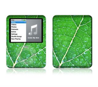 Z3 Apple iPod Nano Decal Skin Sticker Cover Green Leaf Texture
