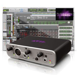 Avid Fast Track Solo Recording Studio Audio Interface Pro Tools Music Software