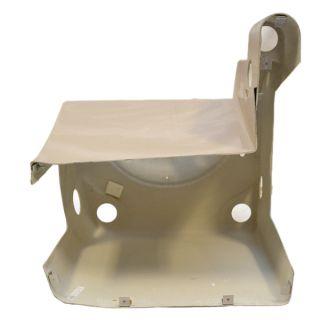 Custom Biege Fiberglass Marine Pontoon Boat Blank Center Steering Console