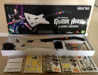 Guitar Hero II 2 Wired Guitar Bundle Xbox 360 New