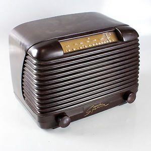 Sparton Brown Bakelite Tube Radio Model 5A7 Circa 1940 Works Spartan Radio