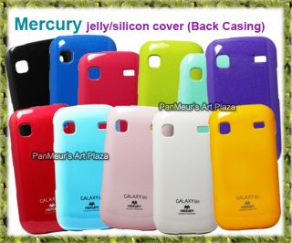 Samsung Galaxy Gio S5660 Glossy Glitter Shiny Pearl Mercury Jelly Phone Case