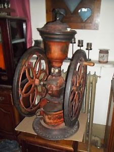 Enterprise Double Wheel Country Store Coffee Grinder 1873 RARE 12 1 2 Original