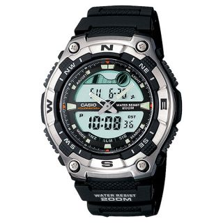 New Casio Forester Dual Time Moon Data Tide Graph Mens Wrist Watches AQW100 1AV