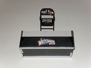 WWE Mattel Wrestling Exclusive Wrestlemania 28 Build A Announce Announcer Table