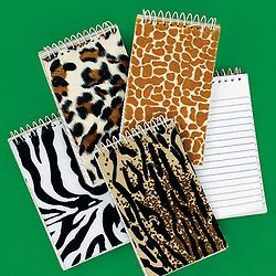12 Zoo Safari Animal Print Notepads Notebooks Birthday Party Favors Gifts