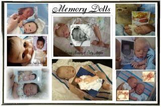 Reborn Baby Girl Hattie by C Peek Large Layette Memory Dolls by Marilyn