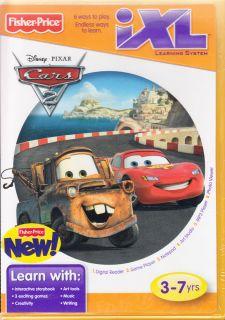 Disney Pixar Cars 2 iXL Learning System New CD ROM Software Game Children