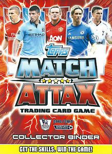 Match Attax 2012 2013 Near Full Book All Base Cards Star Players and Signings