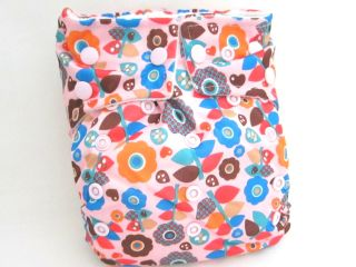 Baby NEW Double Layered FUN PRINT OS Cloth Diapers+24 Large Inserts