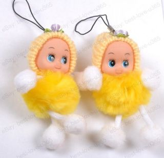 Knit Cap Cute Doll Pendants Charms Strap For Handbags Cell Phone PDAs