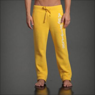 Abercrombie A F Classic Straight Sweatpants s M L XL Lounge Pants Yellow New