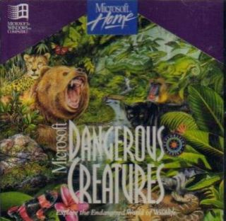 MS Dangerous Creatures PC CD Learn About Animals Insects Endangered Species