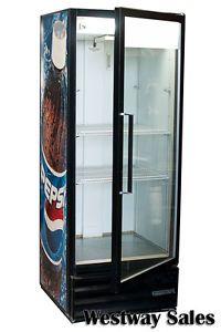Beverage Air MT 12 Glass Door Cooler Merchandiser Refrigerator Pepsi Graphics