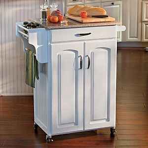 New Small Rolling Kitchen Island Storage Cart Wine Rack