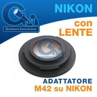 ►►anello Ottico Adattatore Obiettivi Vite M42 42x1 per Nikon D3100◄◄