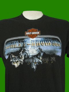 Harley Davidson Wolf Print Dealer T Shirt South Carolina L