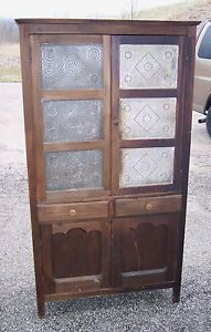 Antique Scarritt Furniture Co St Louis MO 12 Tin Pie Safe Jelly Cupboard Pantry