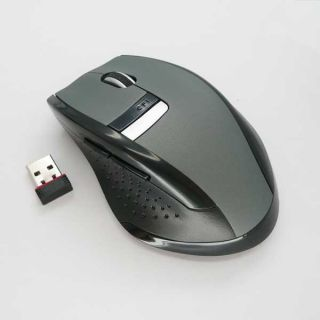 2 4GHz USB Wireless Mice Optical Mouse Laptop Hand Grey