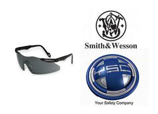 Smith Wesson Magnum Safety Glasses Black Frame Smoke Lens 19823