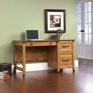 Home Office Computer Desk Furniture Workstation Writing Wood Finish Laptop Table