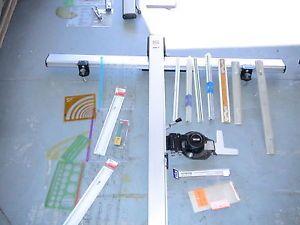 RH Mayline V Track Drafting Machine Model s Vemco Scales Triangualr Tools 1