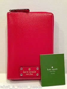 Kate Spade Wellesley Leather Large Agenda Planner Organizer Red 2014