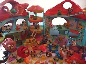 Littlest Pet Shop Original Biggest House with Door 40 LPS Pets Toys Foods Beds