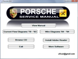 Porsche 928 Interactive Workshop Service Repair Manual Inc Wiring Diagrams